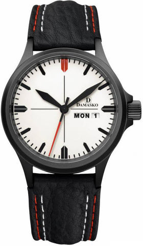 Damasko Watch DA 35 Black PVD Leather Pin