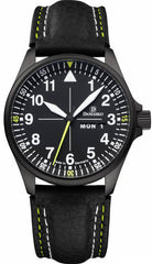 Damasko Watch DA 363 Black PVD Leather Pin