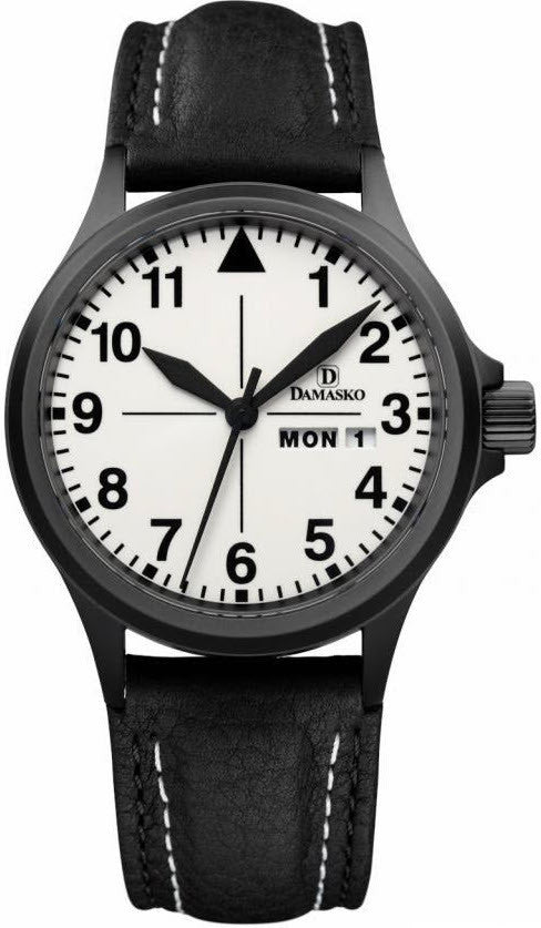 Damasko Watch DA 37 Black PVD Leather Pin