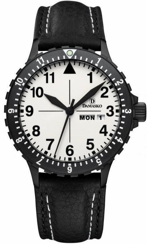 Damasko Watch DA 47 Black PVD Leather Pin
