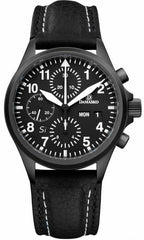 Damasko Watch DC 56 Si Black PVD Leather Pin