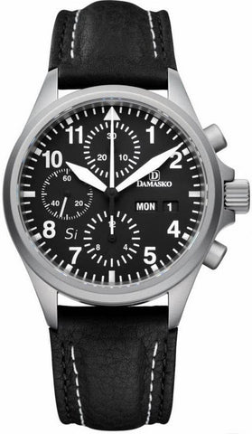 Damasko Watch DC 56 Si Leather Pin