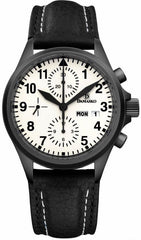 Damasko Watch DC 57 Black PVD Leather Pin