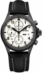 Damasko Watch DC 57 Si Black PVD Leather Pin