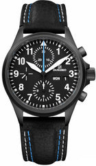Damasko Watch DC 58 Black PVD Leather Pin