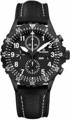 Damasko Watch DC 66 Black PVD Leather Pin