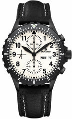 Damasko Watch DC 67 Black PVD Leather Pin