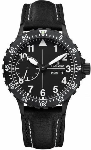 Damasko Watch DK 14 Black PVD Leather Pin