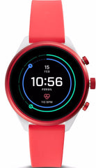 Fossil Watch Sport Smartwatch Red Silicone
