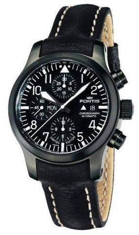Fortis B-42 Flieger Black Chronograph D