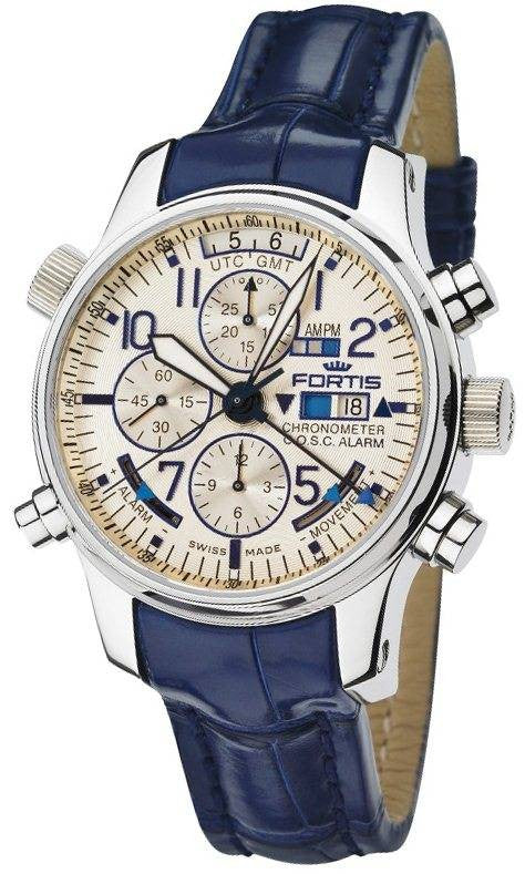Fortis Watch Chronograph Alarm GMT Polished