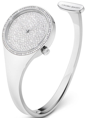 Georg Jensen Watch Vivianna Pave Dial Medium