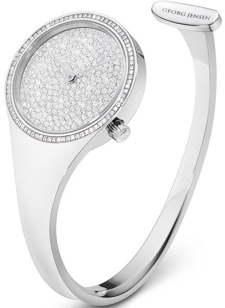 Georg Jensen Watch Vivianna Pave Dial Large