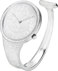Georg Jensen Watch Vivianna White Gold Full Pave Made To Order Medium