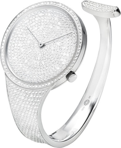 Georg Jensen Watch Vivianna White Gold Full Pave Made To Order Large