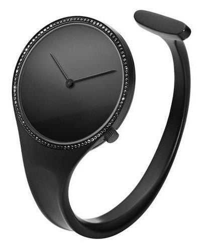 Georg Jensen Watch Vivianna Black PVD Black Diamond Medium