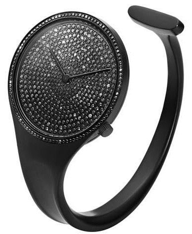 Georg Jensen Watch Vivianna Black PVD Black Pave Diamond Medium