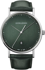 Georg Jensen Watch Koppel Quartz Green Dial
