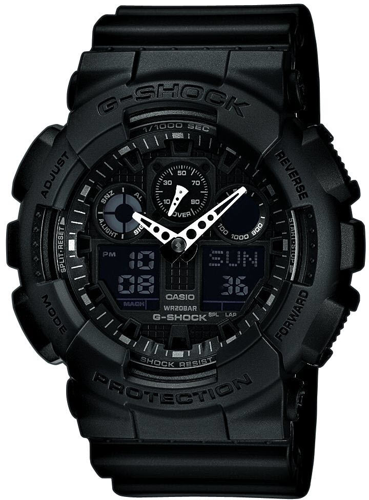 G shock watch alarm chronograph x large ga 100 1a1er watch for Watches g shock