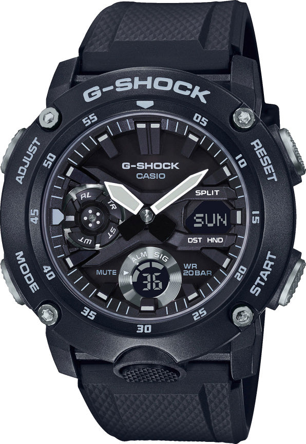 g-shock watch alarm carbon core guard mens