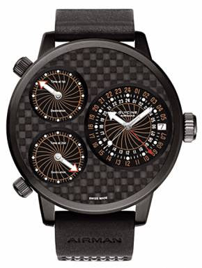 Glycine Airman 7 Titanium Black D