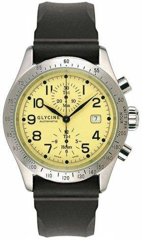 Glycine Stratoforte Chronograph Yellow D