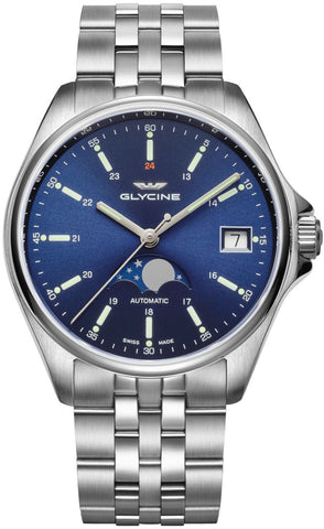 Glycine Watch Combat Classic Moon Phase