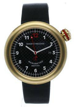 Giuliano Mazzuoli Manometro Carbon Fibre & Brushed Gold Right Crown