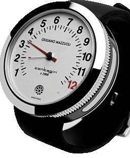 Giuliano Mazzuoli Contagiri Steel with White Dial