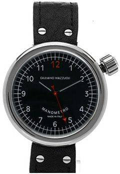 Giuliano Mazzuoli Manometro Polished Black Dial Right Crown