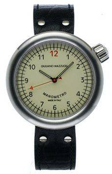 Giuliano Mazzuoli Manometro Brushed Ivory Dial Right Crown