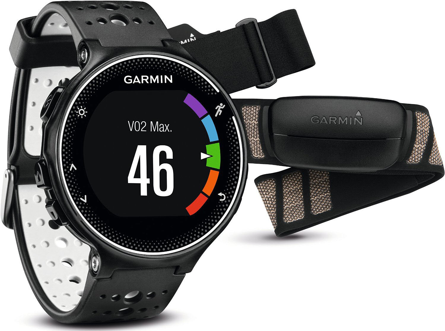 Garmin Watch Forerunner 230 Premium Soft Strap HRM Black White