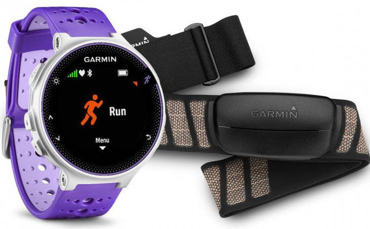 Garmin Watch Forerunner 230 Premium Soft Strap HRM Purple White