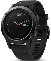 Garmin Watch Fenix 5 Black Sapphire With Black Band