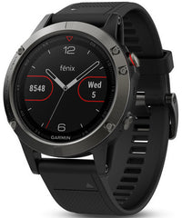 Garmin Watch Fenix 5 Slate Grey Black Band