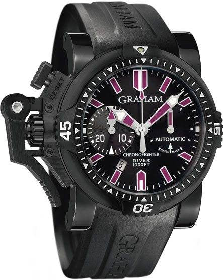 Graham Chronofighter Oversize Diver Deep Purple D