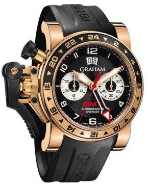 Graham Chronofighter Oversize GMT Black Gold D