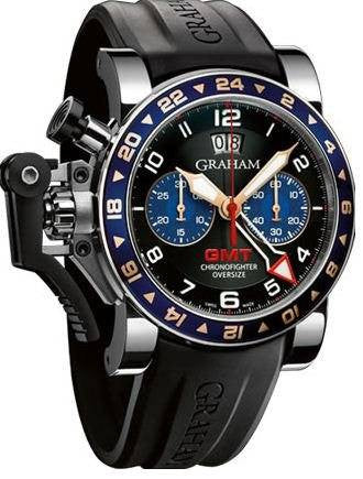 Graham Chronofighter Oversize GMT Blue