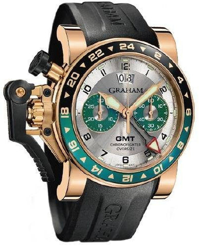Graham Chronofighter Oversize GMT Silver BRG Gold D