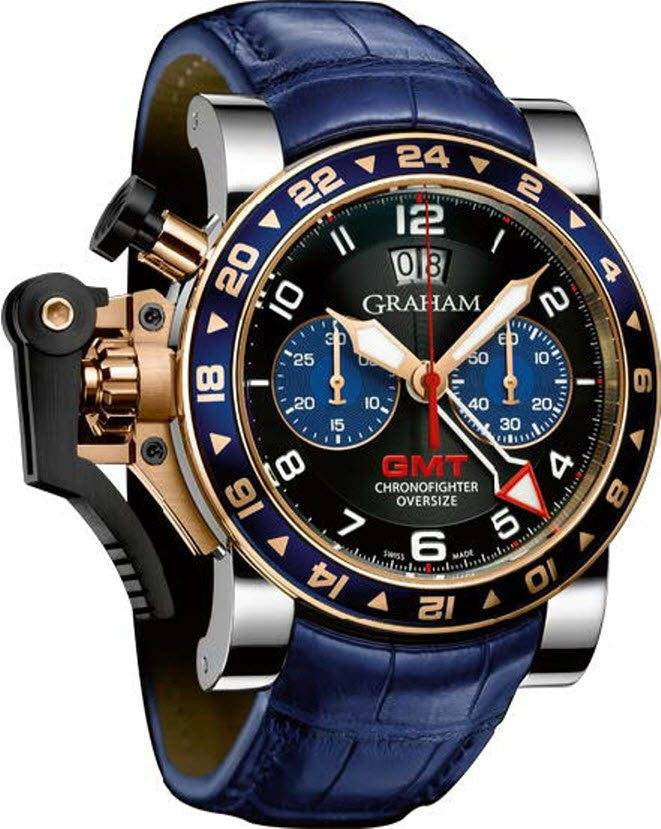 Graham Watch Chronofighter Oversize GMT Blue