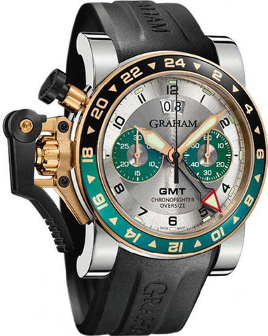 Graham Chronofighter Oversize GMT Steel & Gold D