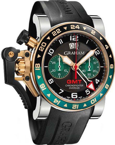 Graham Chronofighter Oversize GMT Steel & Gold