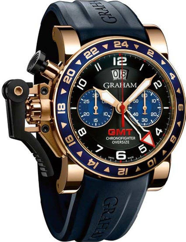 Graham Chronofighter Oversize GMT Gold D