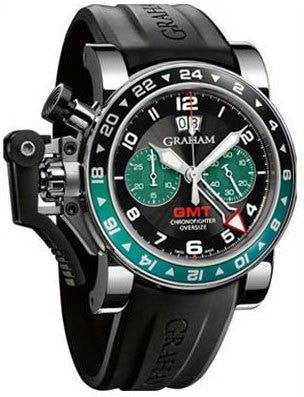 Graham Chronofighter Oversize GMT Green