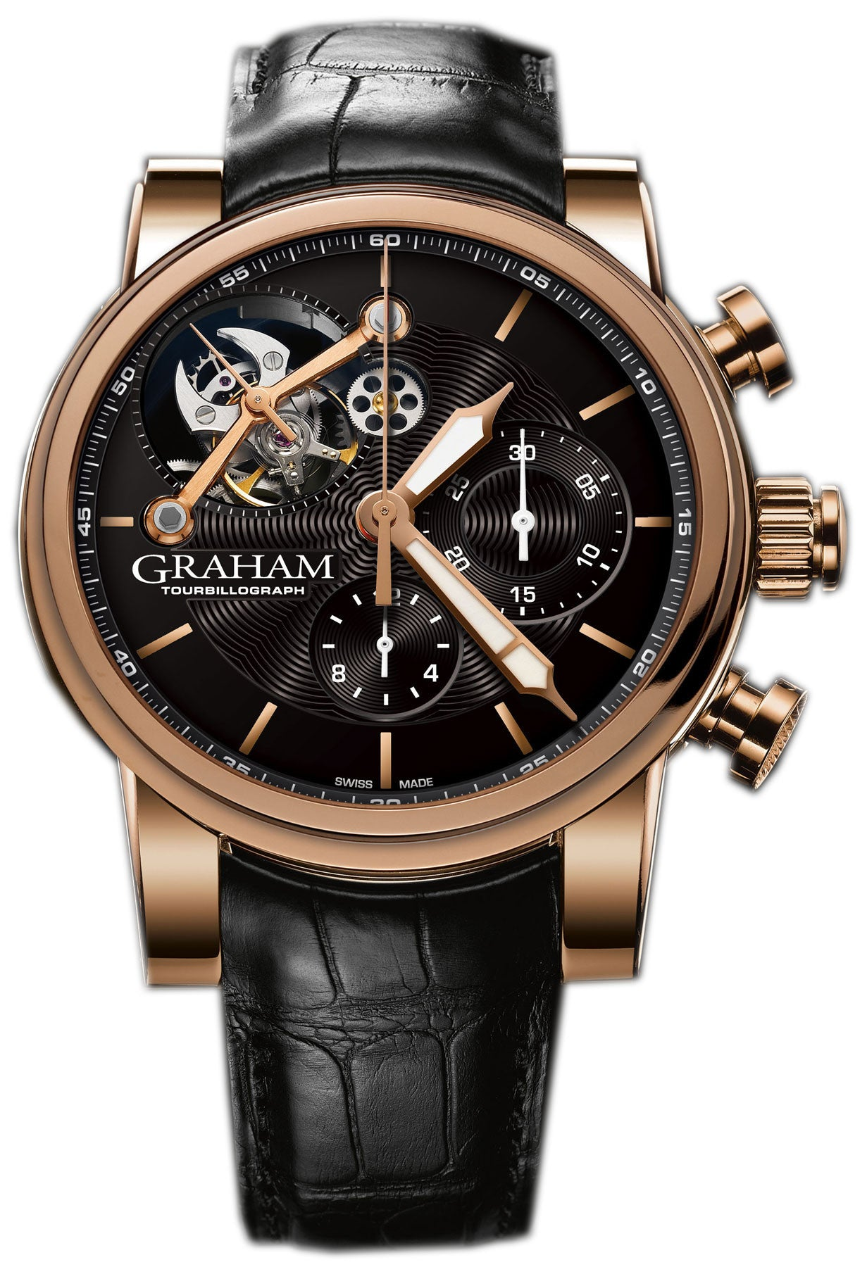 Graham Watch Silverstone Tourbillograph Woodcote Gold Limited Edition