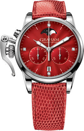 Graham Watch Chronofighter 1695 Lady Moon Red