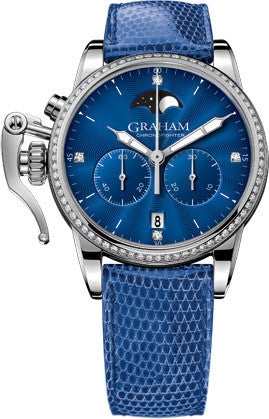 Graham Watch Chronofighter 1695 Lady Moon Blue Diamond