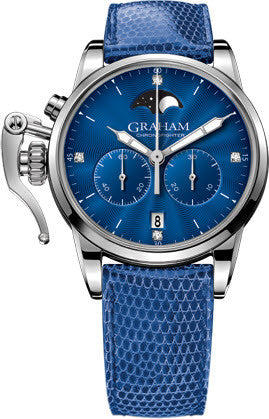 Graham Watch Chronofighter 1695 Lady Moon Blue
