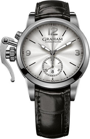Graham Watch Chronofighter 1695 Steel White