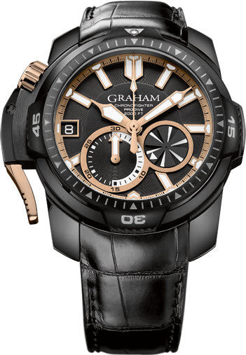 Graham Watch Chronofighter Prodive Black Gold Limited Edition